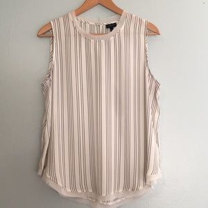 Who What Wear Striped Sleeveless Blouse